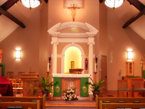 Front of Altar
